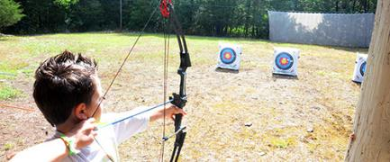 Learn how to become a master marksman at our archery range. Camp Widjiwagan