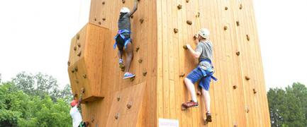 Learn the basics of rock climbing, and challenge your group to make it to the top!